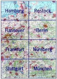 ICAO-Karten · Deutschland komplett #2# 2017 · 8 Blätter (1:500.000)