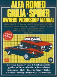 Alfa Romeo Giulia & Spider · 1962-1978 #2# Owners Workshop Manual · Reparaturanleitung