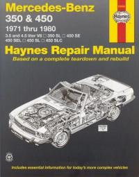 Mercedes-Benz 350 & 450 (R107/C107 & W116) #2# Haynes Repair Manual · Reparaturanleitung
