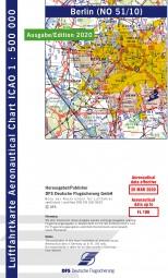 ICAO-Karte · Berlin #2# 2020 · Blatt NO 51/10 (1:500.000)