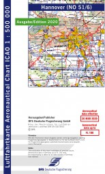 ICAO-Karte · Hannover #2# 2020 · Blatt NO 51/6 (1:500.000)