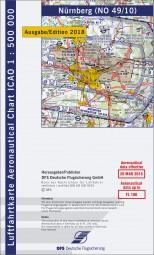 ICAO-Karte · Nürnberg #2# 2018 · Blatt NO 49/10 (1:500.000)