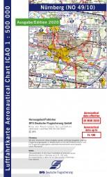 ICAO-Karte · Nürnberg #2# 2020 · Blatt NO 49/10 (1:500.000)