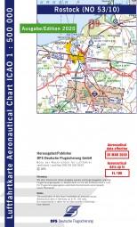 ICAO-Karte · Rostock #2# 2020 · Blatt NO 53/10 (1:500.000)