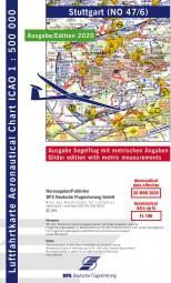 ICAO-Segelflugkarte · Stuttgart #2# 2020 · Blatt NO 47/6 (1:500.000)