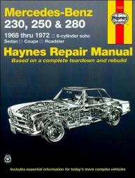 Mercedes-Benz 230 250 280 · 1968-1972 #2# Haynes Repair Manual · Reparaturanleitung